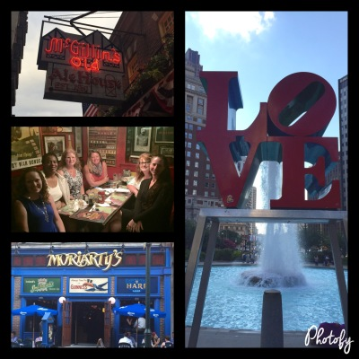Two great restaurants, my nightly dinner dates and a close up of the Love statue and fountain